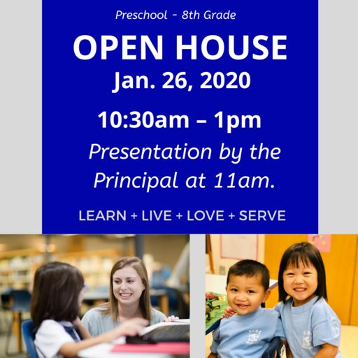 OLGC School Open House: Sun. Jan 26th 10:30-1pm
